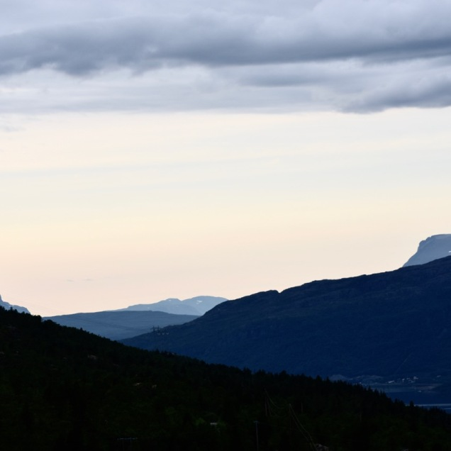 After dawn in the Norwegian mountains